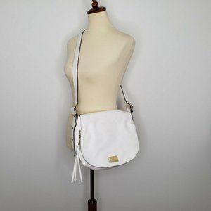 Juicy Couture White Crossbody Saddle Handbag